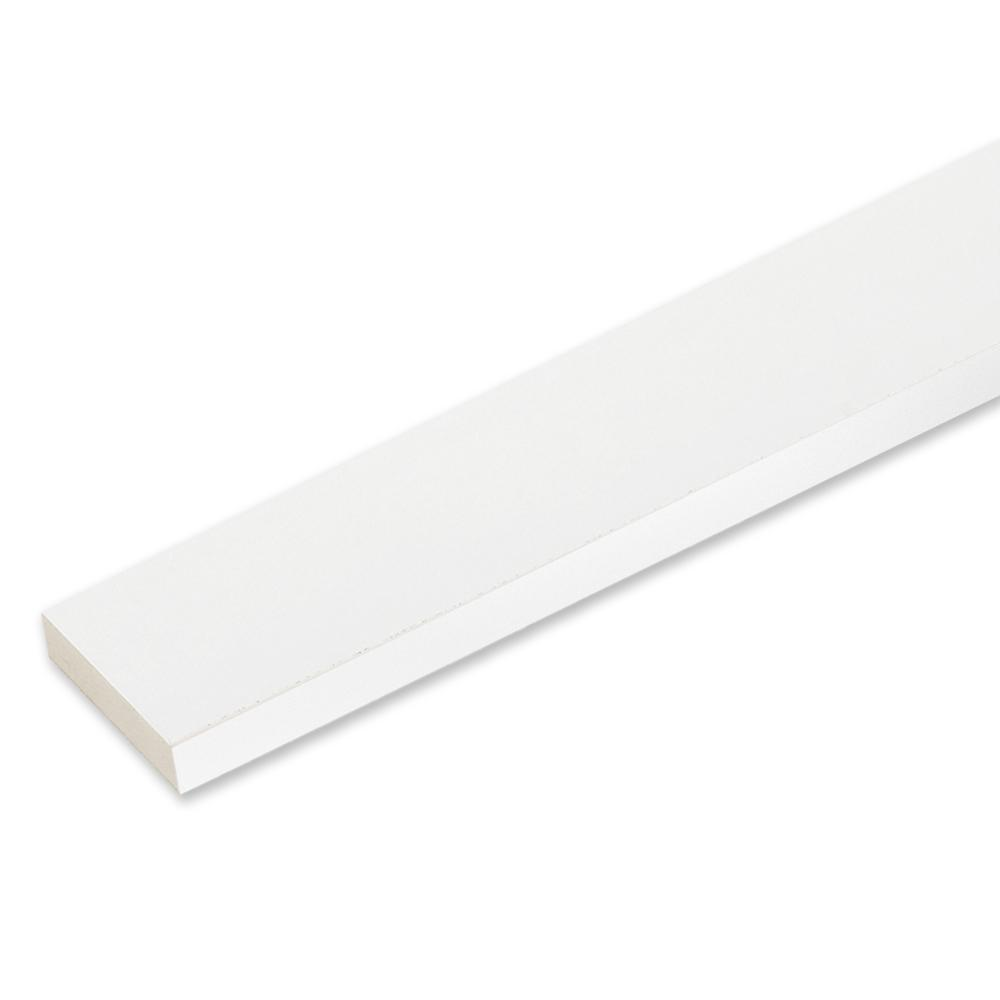 5/4 in. x 3-1/2 in. x 12 ft. Reversible White PVC