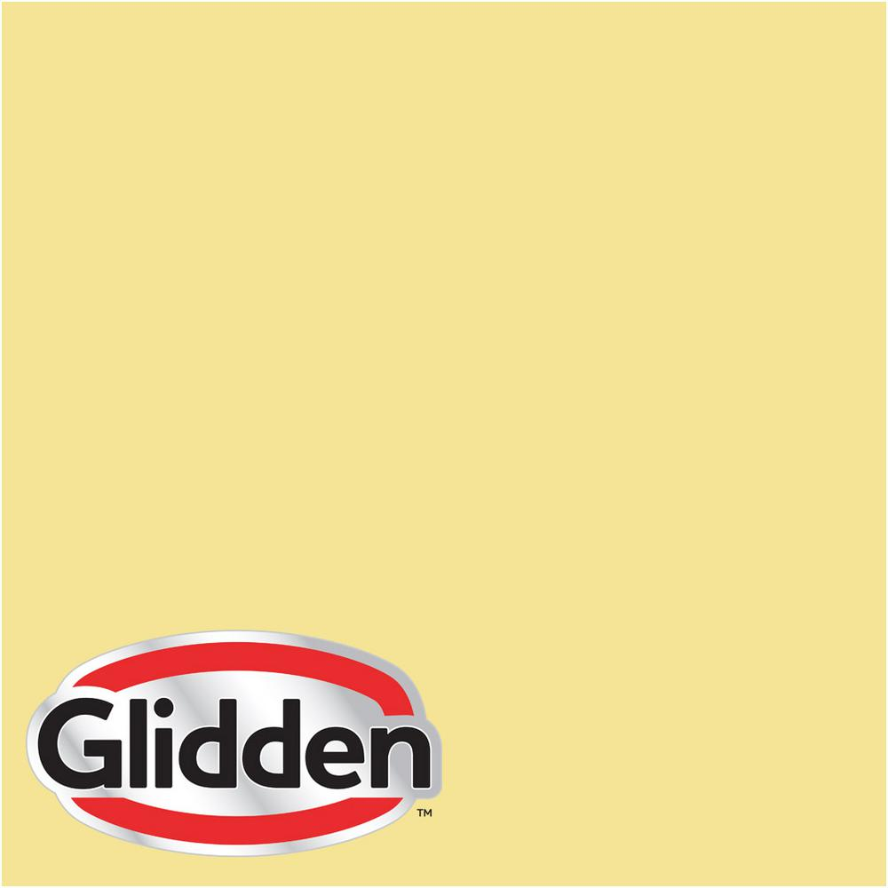 Glidden Premium 8 oz. #HDGG03 Meadow Flower Yellow Eggshell Interior Paint Sample, Greens