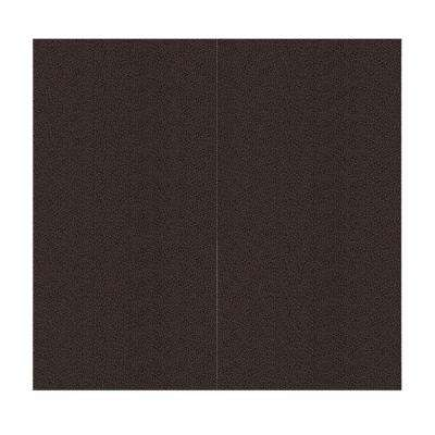 64 sq. ft. Coffee Bean Fabric Covered Full Kit Wall Panel