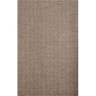 Vintage Dark Brown 8 ft. x 10 ft. Area Rug
