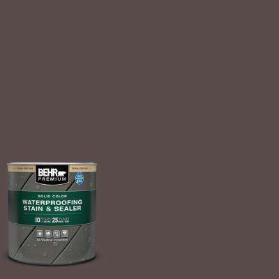 Behr Premium 1 Qt Home Decorators Collection Hdc Ac 07 Oak Creek Solid Color Waterproofing Exterior Wood Stain And Sealer 501304 The Home Depot