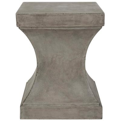 Curby Dark Gray Square Stone Indoor/Outdoor Accent Table