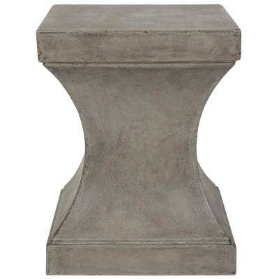 Curby Dark Gray Stone Indoor/Outdoor Accent Table
