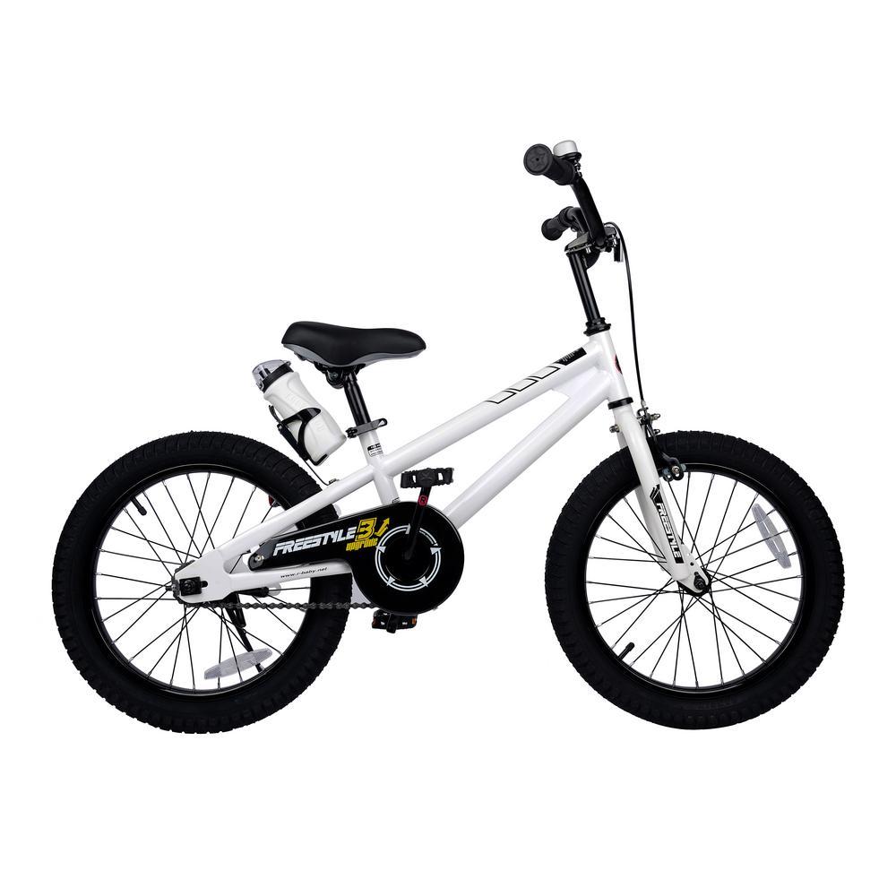 18 in. Wheels Freestyle BMX Kid's Bike, Boy's Bikes and Girl's Bikes in White