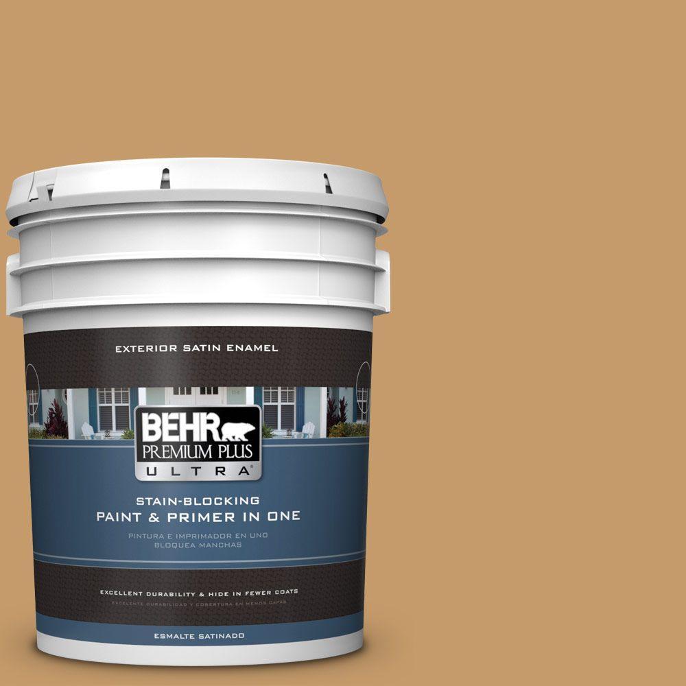 BEHR Premium Plus Ultra 5-gal. #S290-5 Amber Autumn Satin Enamel Exterior Paint