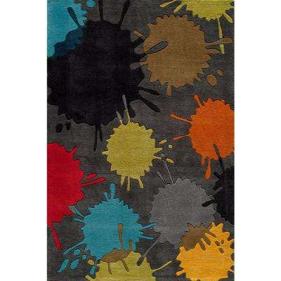 Young Buck Collection Grey 8 ft. x 10 ft. Area Rug