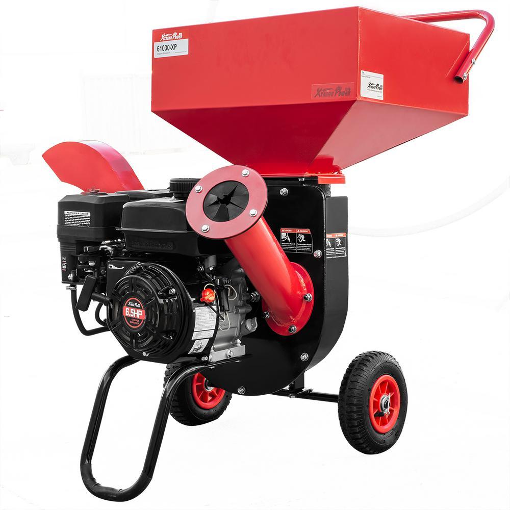 XtremepowerUS 7 HP 212 cc 3 Dia 4-Stroke OHV Engine Gas-Powered Self-Feeding Chipper Shredder