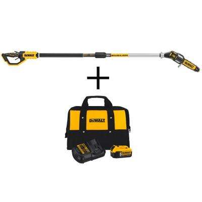 8 in. 20-Volt MAX Electric Cordless Pole Saw (Tool only) with Bonus 20-V MAX Li-Ion Battery Pack 5.0Ah, Charger & Bag