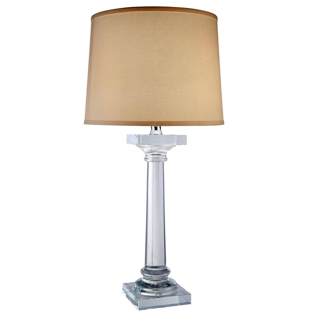 Regina 32 in. Chrome Table Lamp