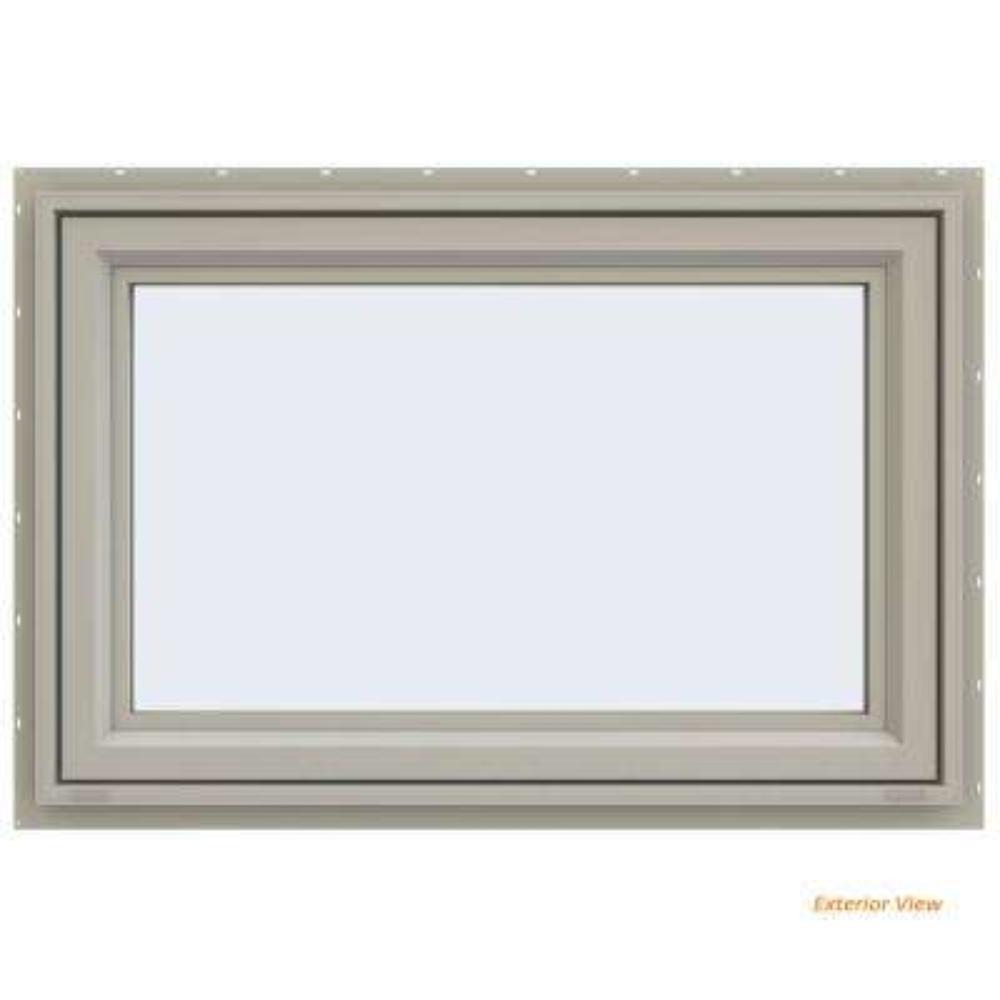 47.5 in. x 29.5 in. V-4500 Series Desert Sand Painted Vinyl Awning Window with Fiberglass Mesh Screen