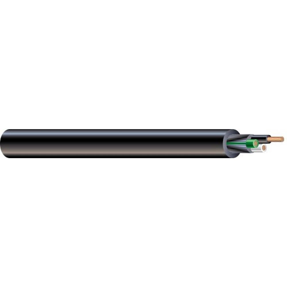 (By-the-Foot) 10/3 300-Volt CU Black Flexible Portable Power SJOOW Cord