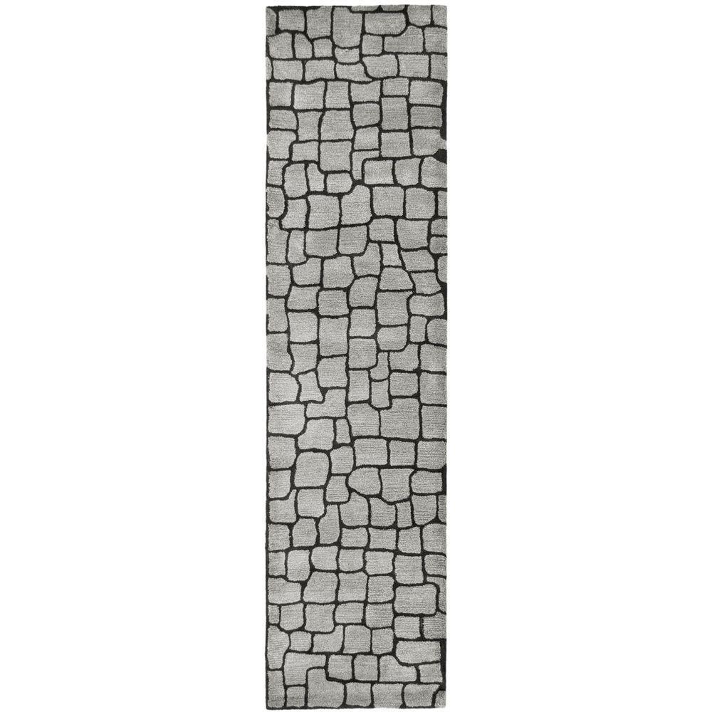 Safavieh Soho Silver/Grey 2 ft. 6 in. x 12 ft. Runner
