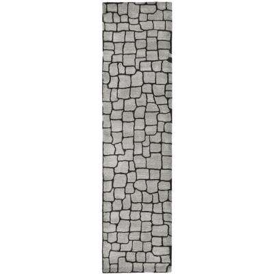 Soho Silver/Grey 3 ft. x 12 ft. Runner Rug
