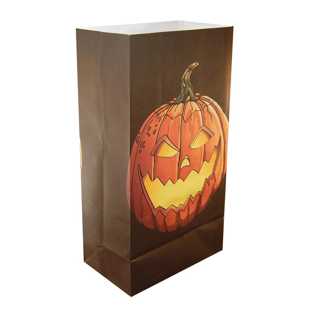 Jack-O'-Lantern Luminaria Bags (24-Count)