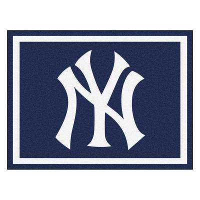 Mlb New York Yankees Navy Blue 8 Ft X 10 Indoor Area Rug