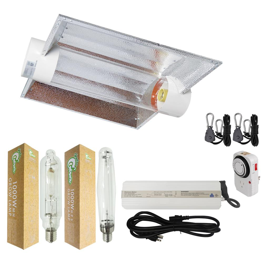 1000-Watt HPS/MH Grow Light System with 6 in. Cool Tube Hood