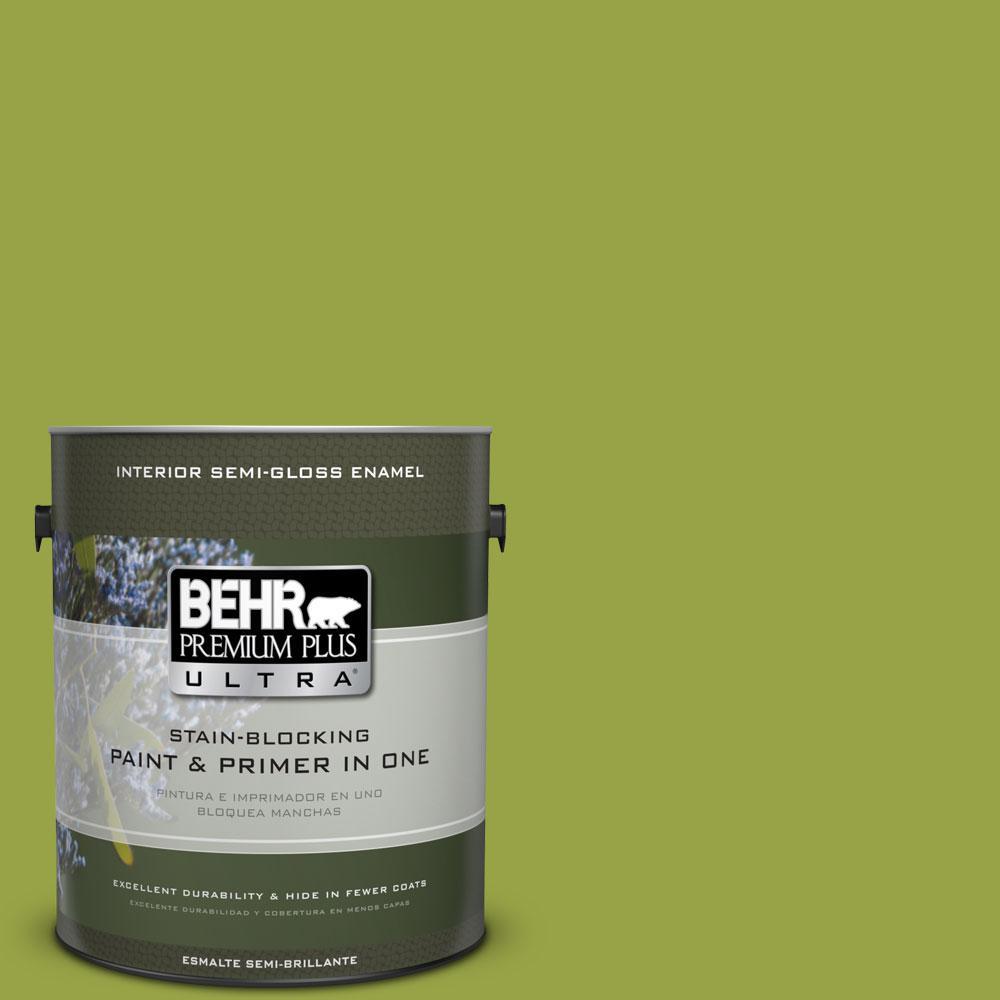 1 gal. #P360-6 Fresh Apple Semi-Gloss Enamel Interior Paint