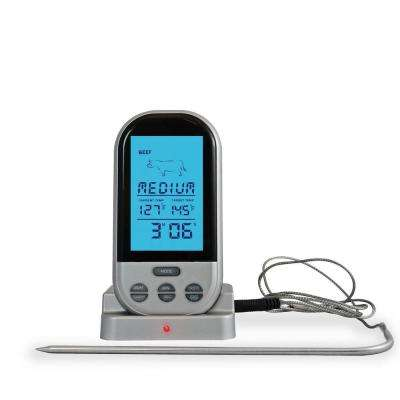 Flamen BBQ Meat / Food Thermometer with High Heat Probe Wireless and Digital - For Smoker, Grill, Oven, Meat