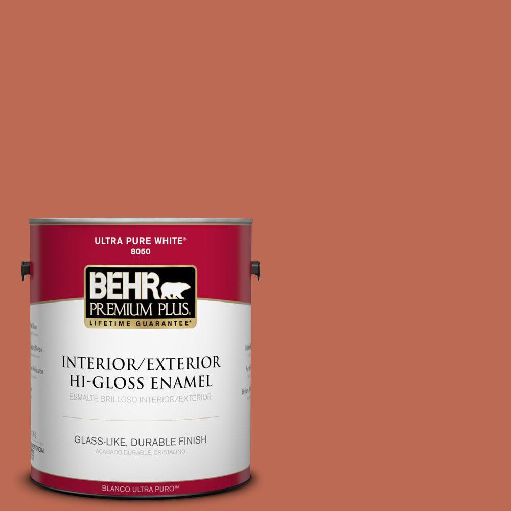 BEHR Premium Plus Home Decorators Collection 1-gal. #HDC-FL13-3 Warm Cider Hi-Gloss Enamel Interior/Exterior Paint