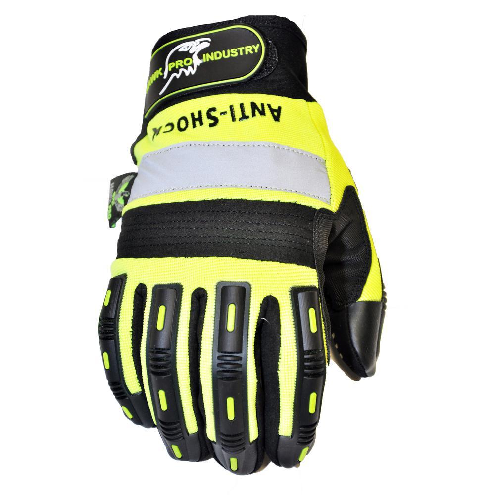 Hawk Large Green Anti Slip Mechanics Glove