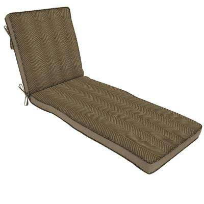Zebra Outdoor Chaise Lounge Cushion