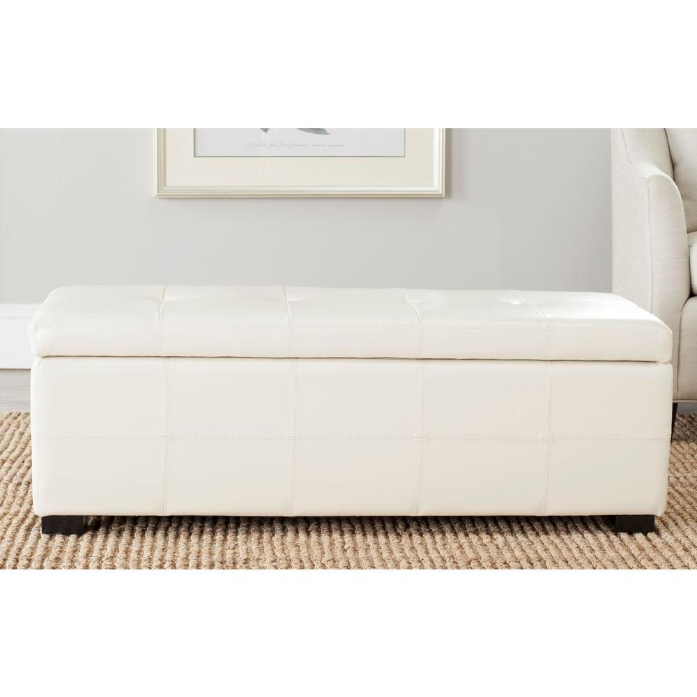 Maiden Flat Cream Storage Bench