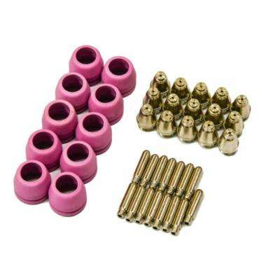 Plasma Cutter Nozzles Electrodes And Cups Set 40 Piece For Lotos Pilot Arc Ltp5000d Ltp6000 Ltpdc2000d Ltpac2500