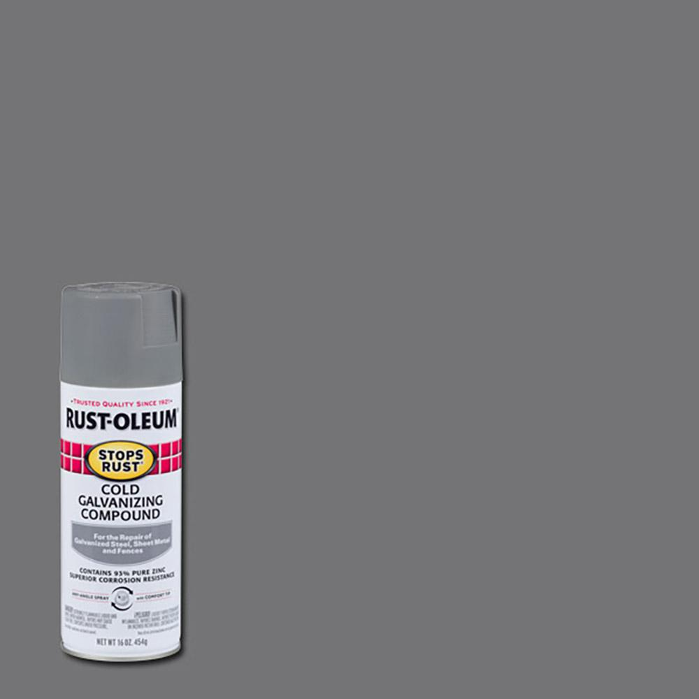 Rust-Oleum Stops Rust 16 oz  Flat Gray Cold Galvanizing Compound Spray