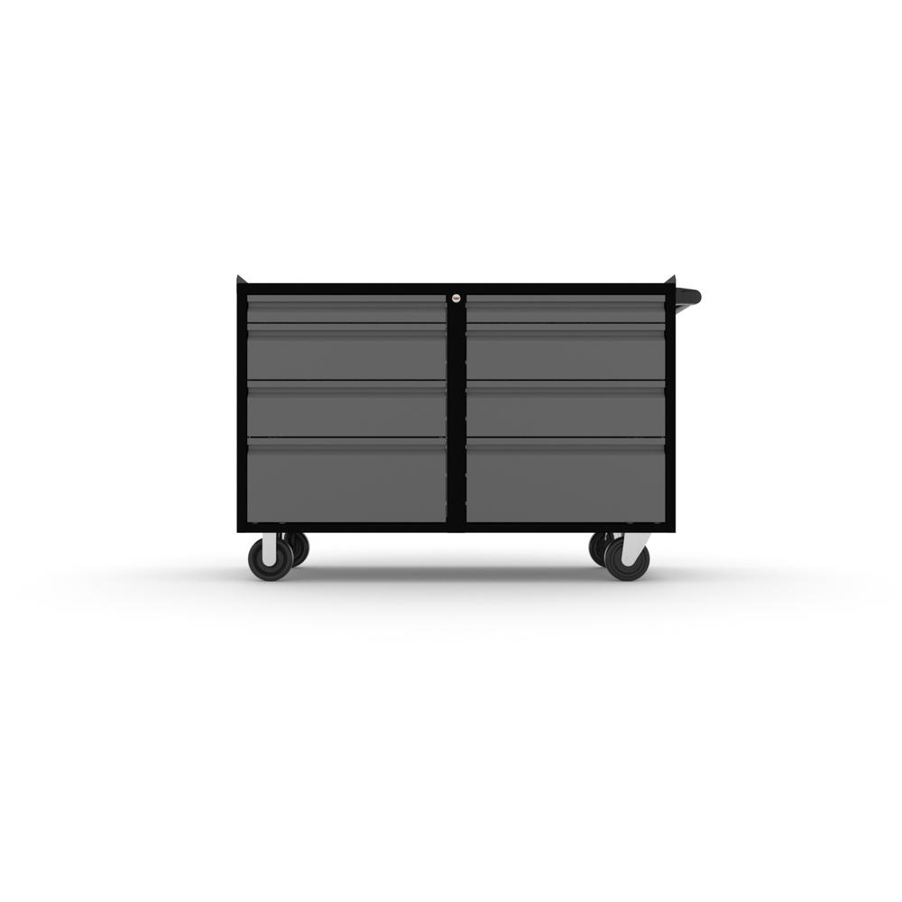 Wondrous 36 In H X 48 In W X 21 In D 4 Drawer Work Bench Cabinet In Black Silver Set Of 2 Ibusinesslaw Wood Chair Design Ideas Ibusinesslaworg
