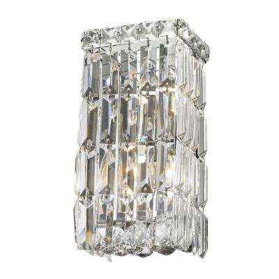 Cascade Collection 2-Light Chrome Crystal Sconce
