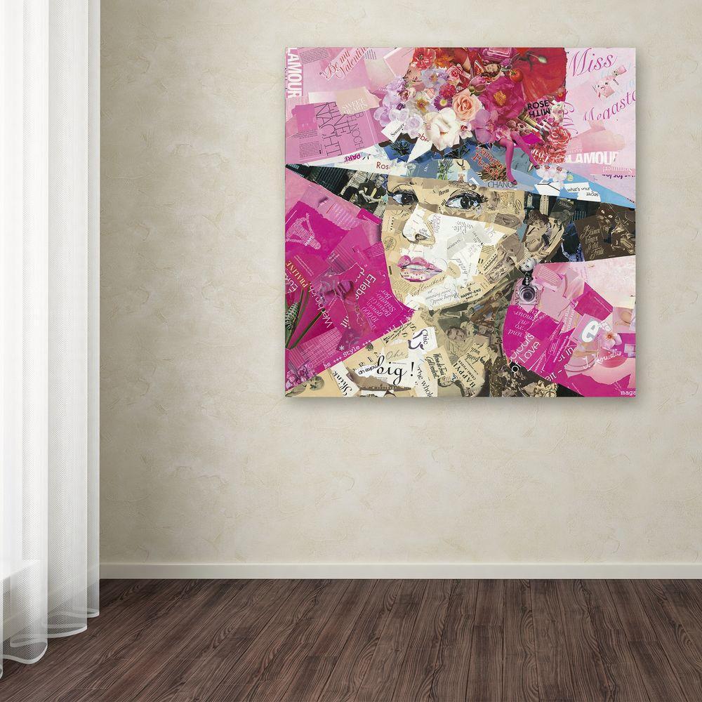"18 in. x 18 in. ""Girl Next Door"" by Ines Kouidis Printed Canvas Wall Art"