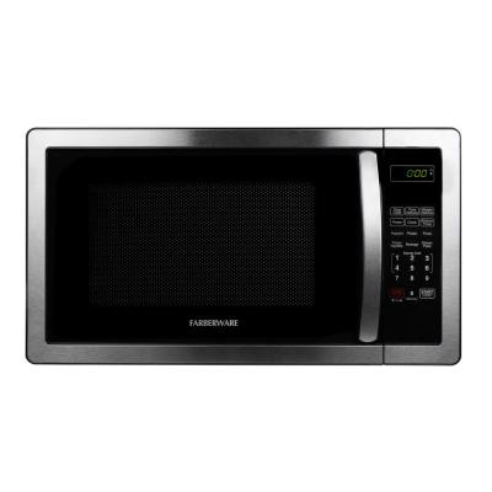 Classic 1.1 cu. Ft. 1000-Watt Countertop Microwave Oven in Stainless Steel/Black