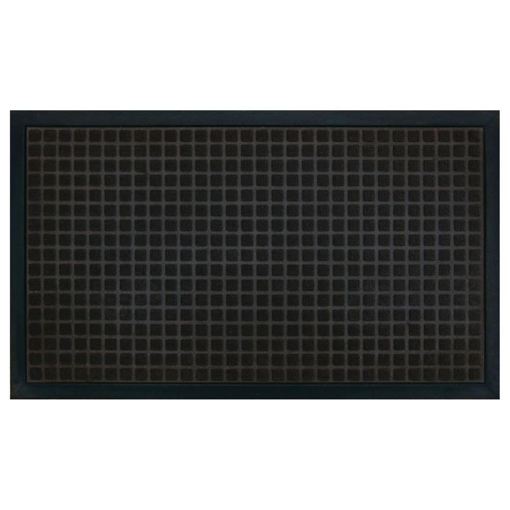 Trafficmaster Black 18 In X 30 In Polypropylene Floor
