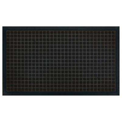 Black 18 in. x 30 in. Polypropylene Floor Saver Mat