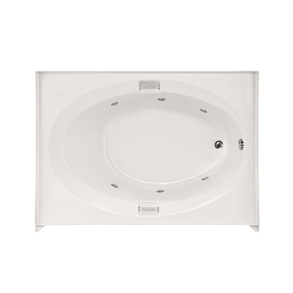 Sonoma 60 in. Acrylic Right Hand Drain Oval Alcove Whirlpool Bathtub in White