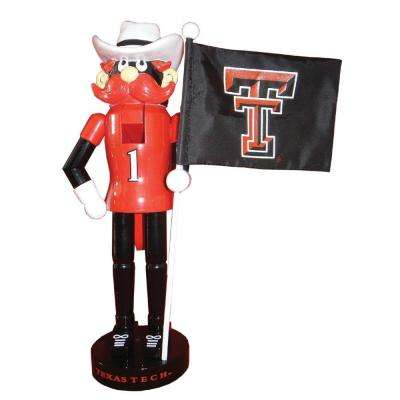 12 in. Texas Tech Mascot Nutcracker with Flag