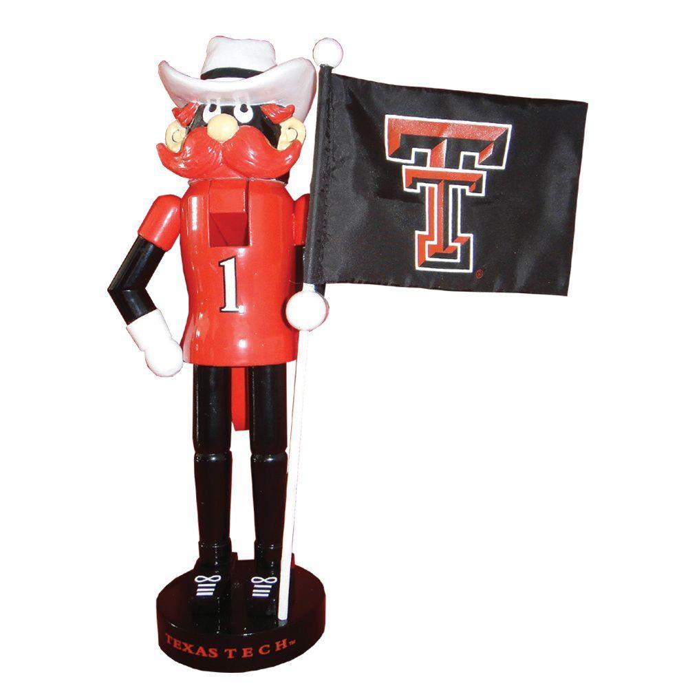 12 in. Texas Tech Mascot Nutcracker with Flag