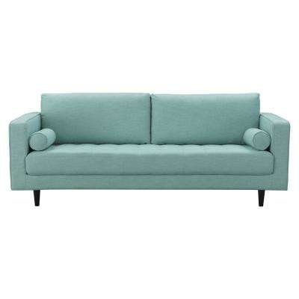 Arthur 3-Seat Mint Green-Blue Tweed Sofa