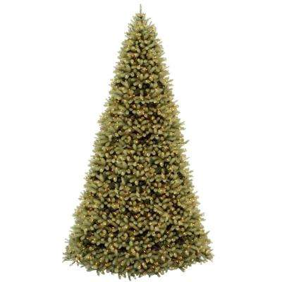12 ft. Feel Real Downswept Douglas Hinged Artificial Christmas Tree with 1500 Clear Lights