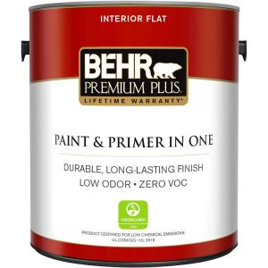 1 gal. Ultra Pure White Flat Zero VOC Interior Paint and Primer in One
