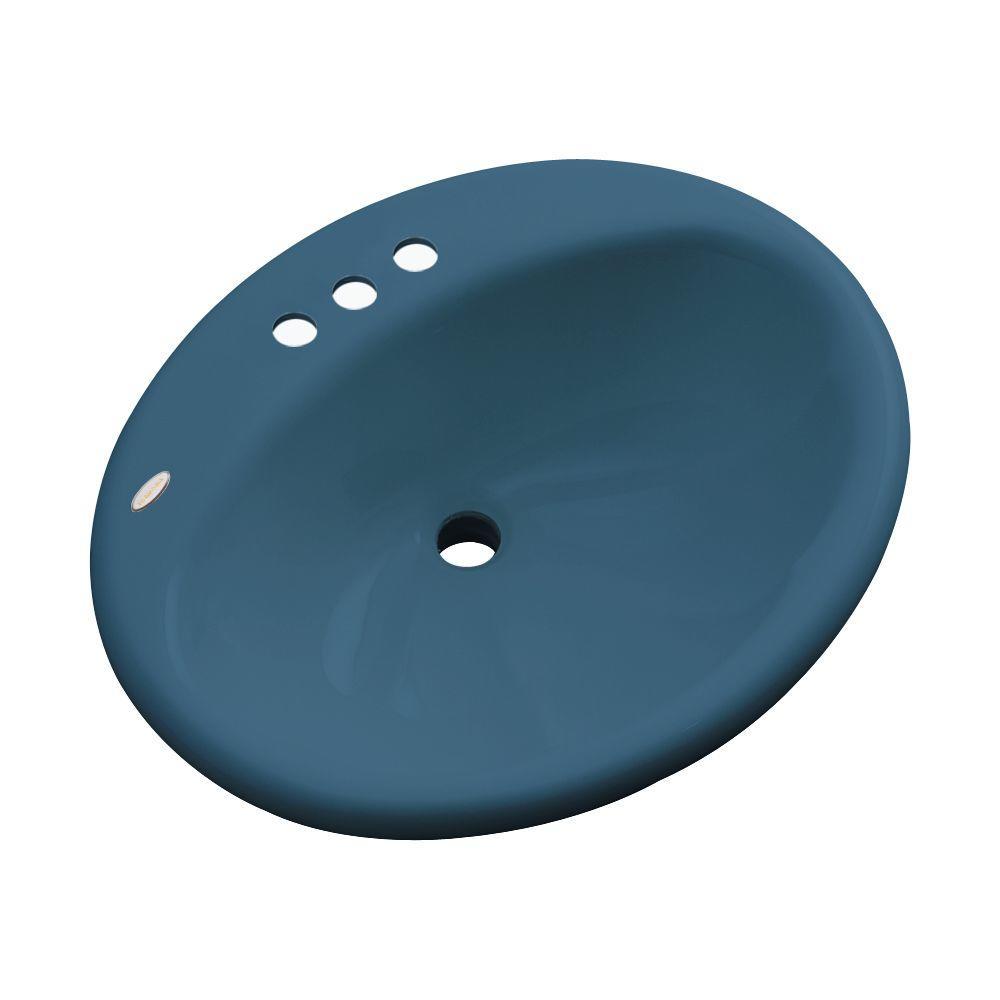 null Oceana Designer Drop-In Bathroom Sink in Rhapsody Blue