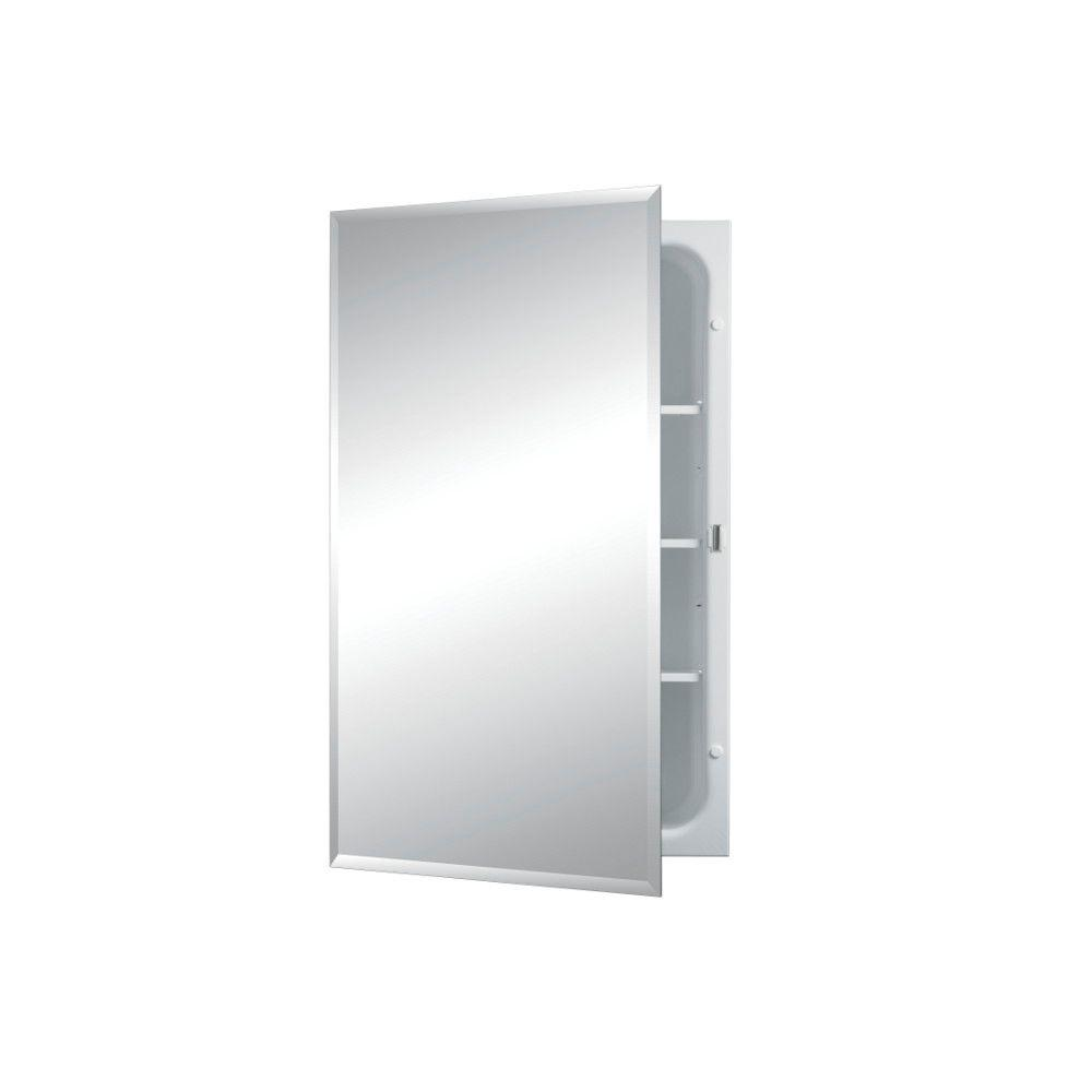 Recessed Bathroom Medicine Cabinets Horizon 16 in. W x 26 in. H x 4-3-4