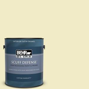 Behr Ultra 1 Gal Ppu14 17a Polar Frost Extra Durable Semi Gloss Enamel Interior Paint And Primer In One 375001 The Home Depot