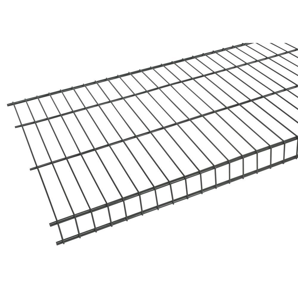 rubbermaid tough stuff 8 ft  x 20 in  wire shelf-fg3f5118gray
