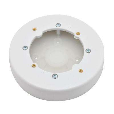 4 in. Non-Metallic Circular Fixture Box - White
