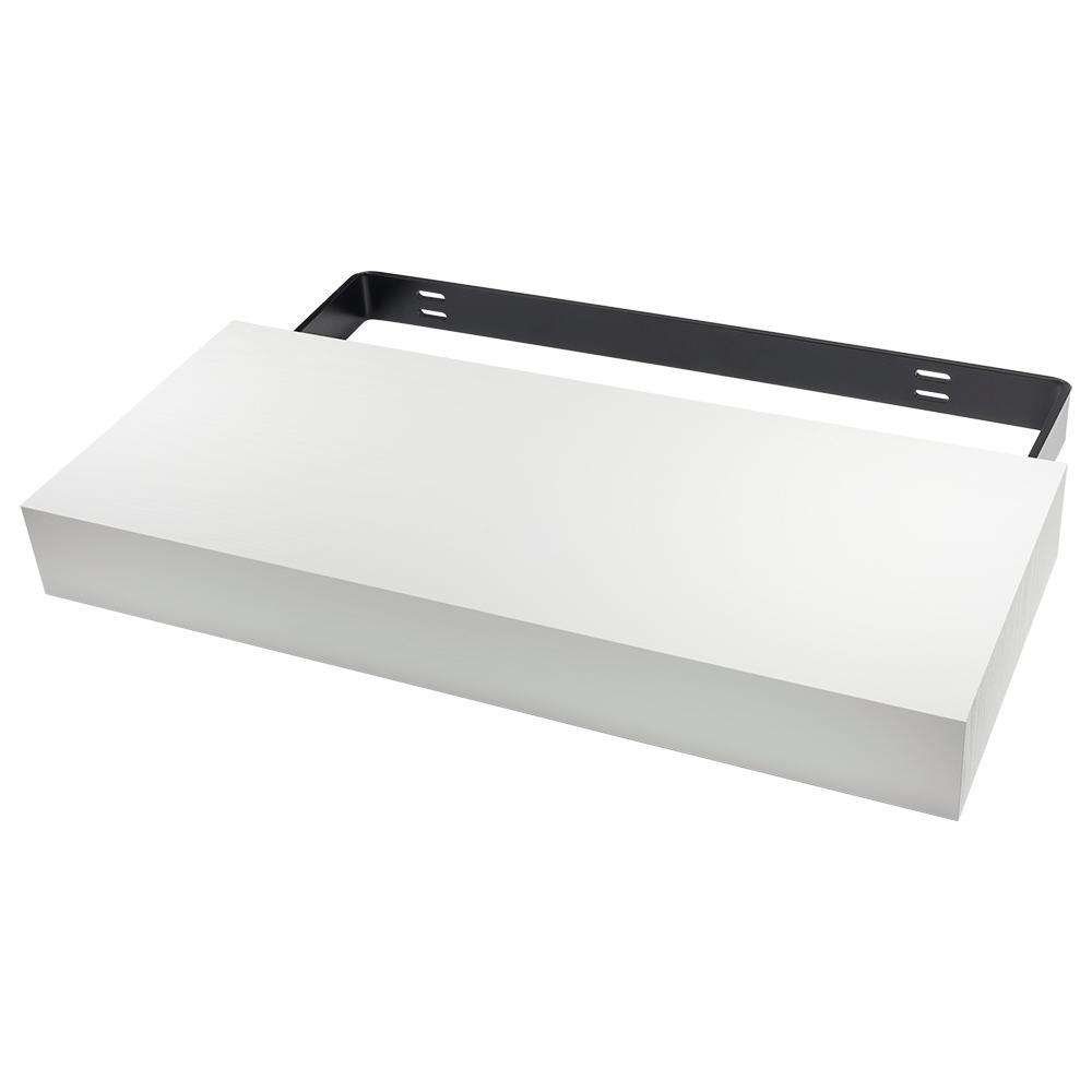 Floating Shelf Kit 24 in. x 10 in. x 2.75 in. MDF White Veneer