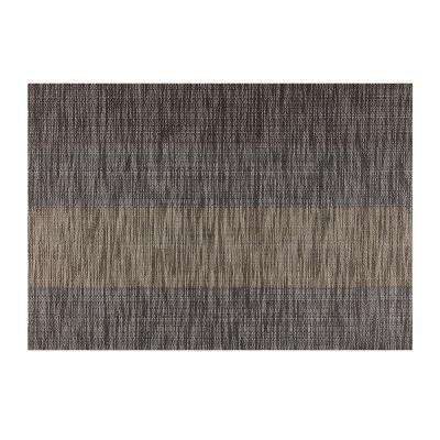 EveryTable Tweed Stripe Brown Placemat (Set of 12)