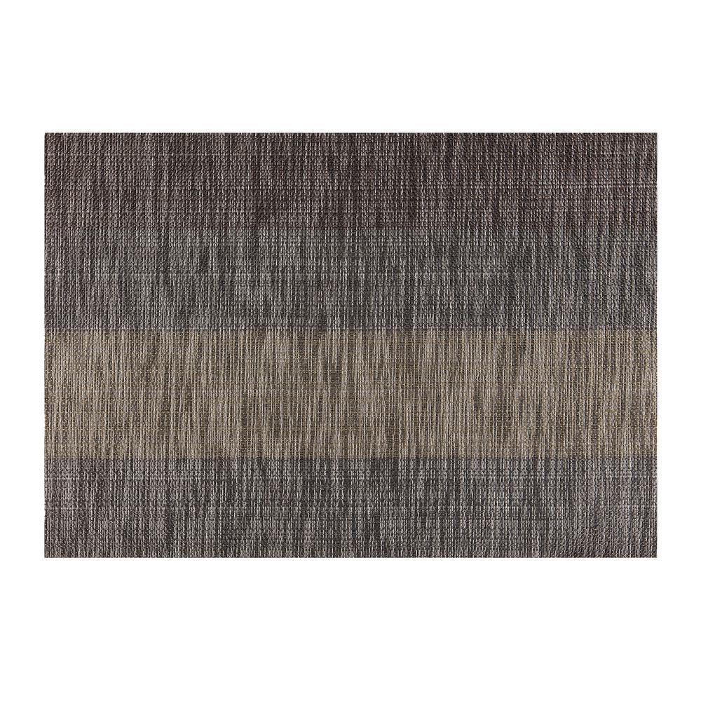 EveryTable Tweed Stripe Brown Placemat (Set of 12)