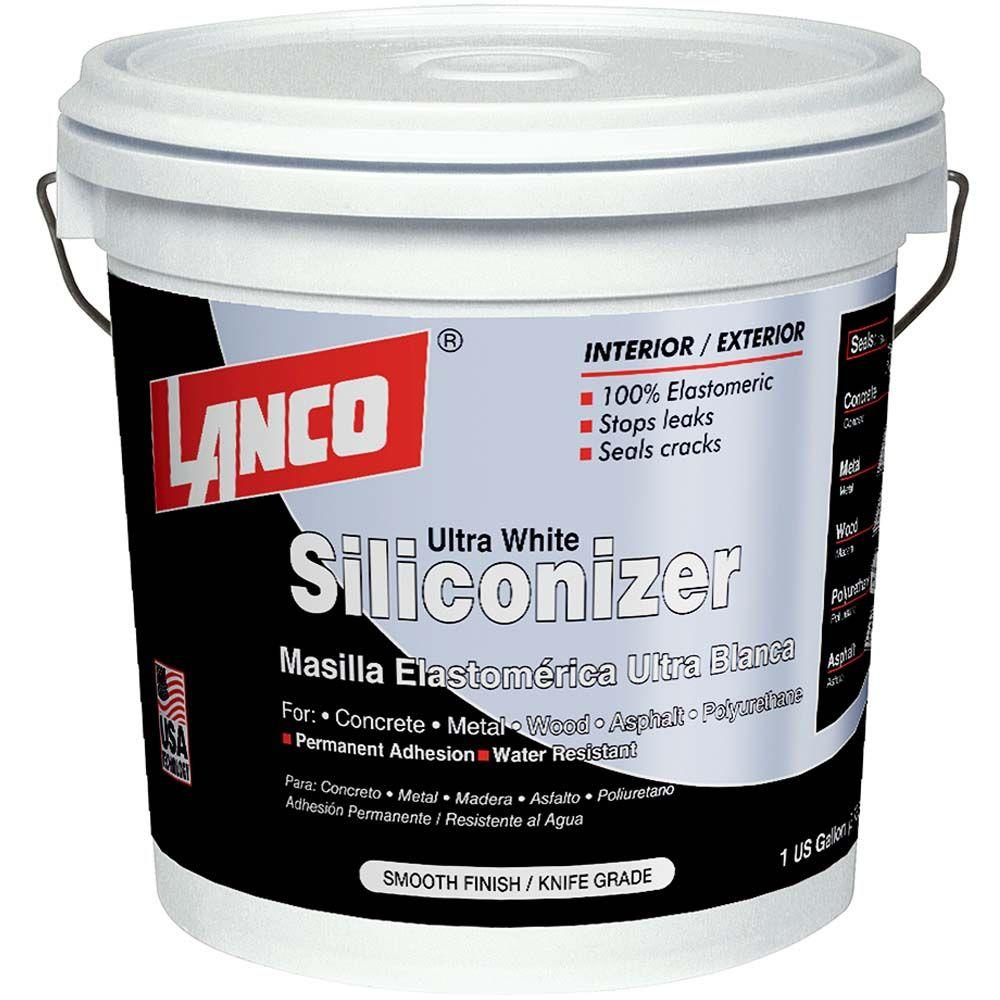Lanco 1 Gal Siliconizer White Elastomeric Crack Filler Smooth Knife Grade For Permanent Water Resistant Adhesion Rc230 4 The Home Depot