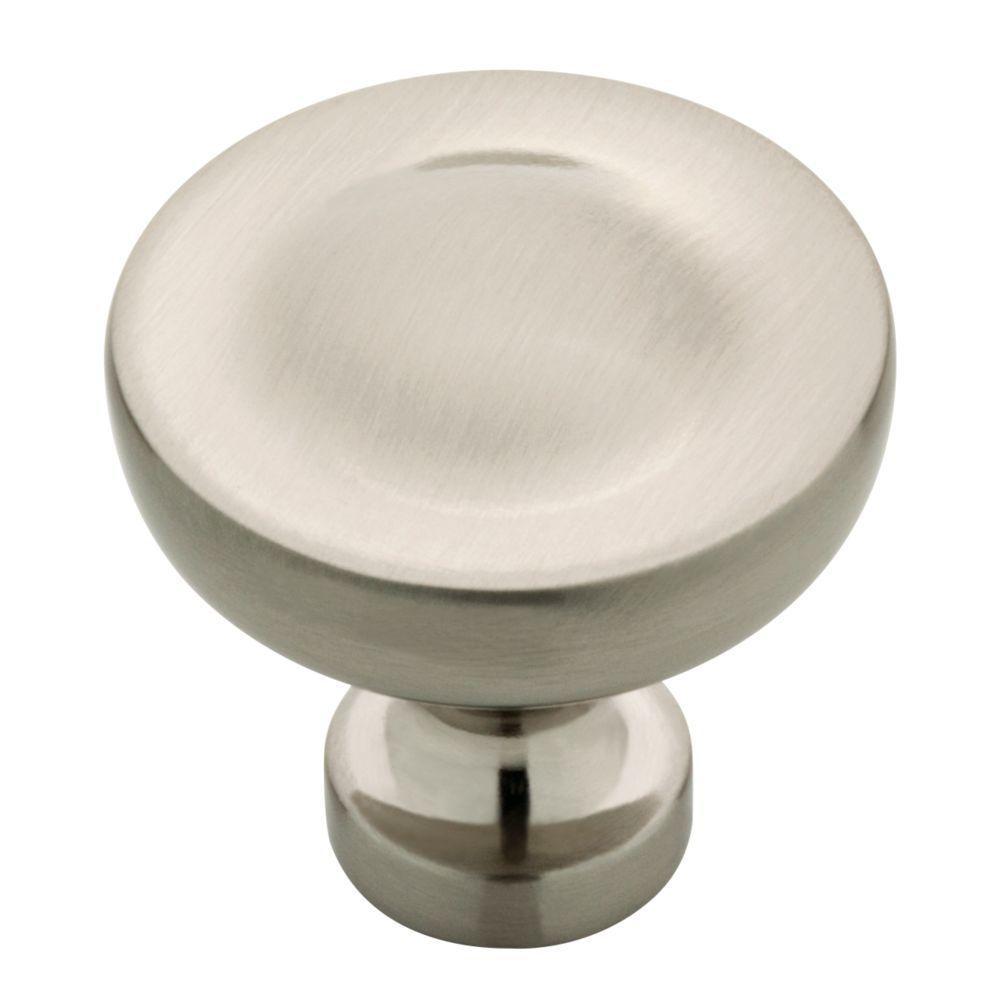 Elegant Luxe 1-1/4 in. (32 mm) Satin Nickel Round Cabinet Knob